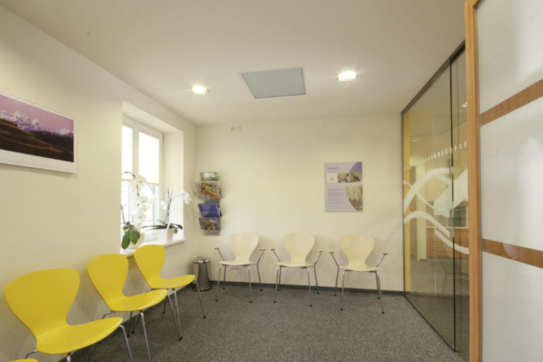 Infraroodverwarming in praktijkruimte